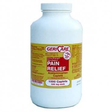 Gericare Acetaminophen 500mg Caplets  Model: 221-10-gcp (1/ea)