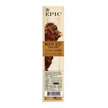 Epic Strips - Wagyu Beef Steak - Case of 20 - .8 oz