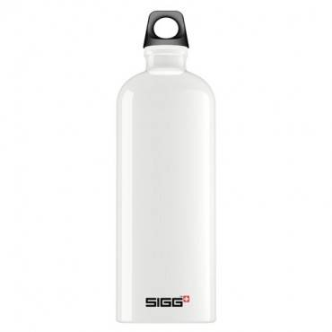 Sigg Water Bottle - Traveller White - 1 Liter