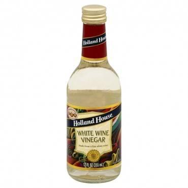 Holland House White Wine Vinegar - Case of 6 - 12 Fl oz.