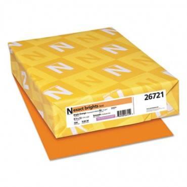 Exact Brights Paper, 20lb, 8.5 X 11, Bright Orange, 500/ream