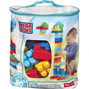 Mega Bloks First Builders Big Building Bag, 80-Piece (Classic) (EA/EACH)