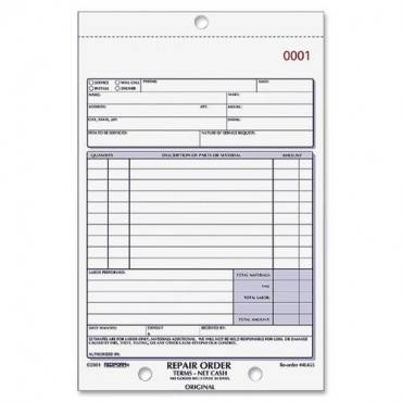 Rediform 3-part Carbonless Repair Order Book (EA/EACH)