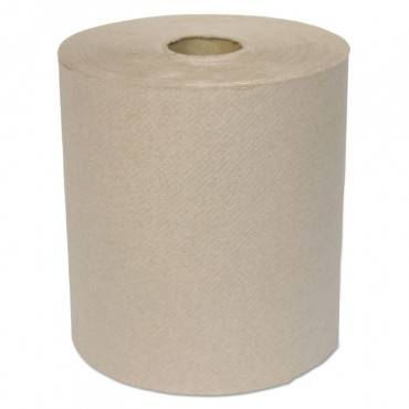 "Hardwound Roll Towels, 1-ply, Kraft, 8"" X 700 Ft, 6/carton"