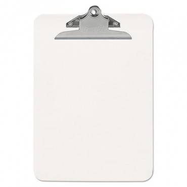 "Plastic Clipboard With High Capacity Clip, 1"" Capacity, Holds 8 1/2 X 11, Clear"
