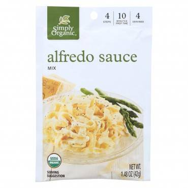Simply Organic Alfredo Seasoning Mix - Case Of 12 - 1.48 Oz.