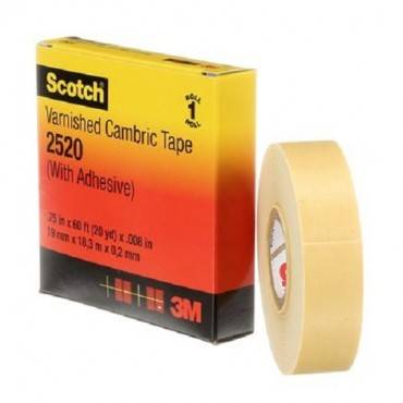 """Scotch 2520 Varnished Cambric Tape, 3/4"""" X 60ft"""