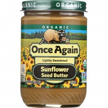 Once Again Sunflower Butter - Organic - Creamy - 16 oz - case of 12