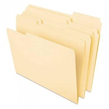 Deluxe Heavyweight File Folders, 1/3-cut Tabs, Legal Size, Manila, 50/pack