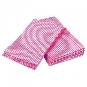 Tuff-job Durable Foodservice Towels, Pink/white, 12 X 24, 200/carton