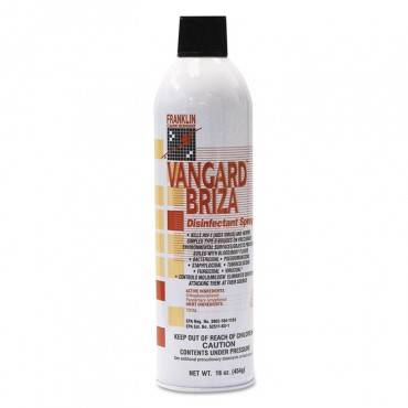 Vangard Briza Surface Disinfectant/space Spray, Linen Fresh, 16oz Aerosol, 12/ct