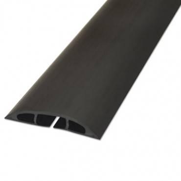"D Line  Light Duty Floor Cable Cover, 72"" X 2 1/2"" X 1/2"", Black"