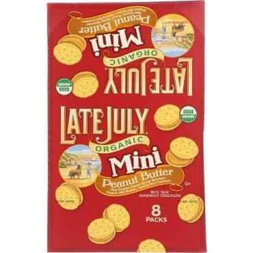 Late July Snacks Sandwich Crackers - Peanut Butter - Case of 4 - 1.125 oz.