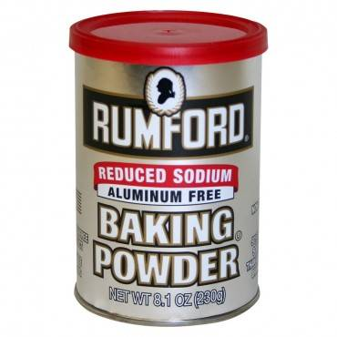 Rumford Baking Powder - Reduced Sodium - Case Of 12 - 8.1 Oz.