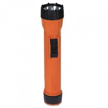 Worksafe I Model 2224 Waterproof Flashlight, 3 D, Orange/black
