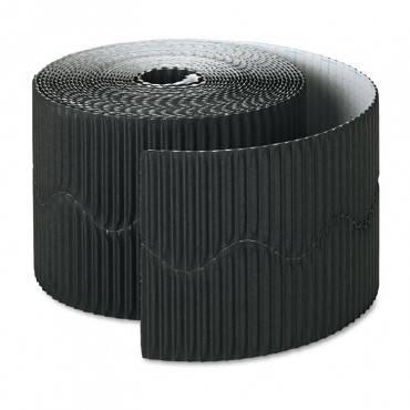 """Pacon  Bordette Decorative Border, 2 1/4"""" X 50' Roll, Black"""