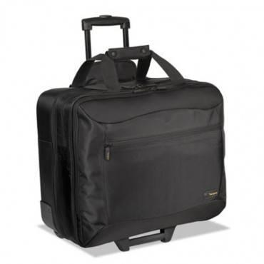 Targus  Citygear Rolling Travel Laptop Case, Nylon, 18 X 10 X 15, Black/Silver