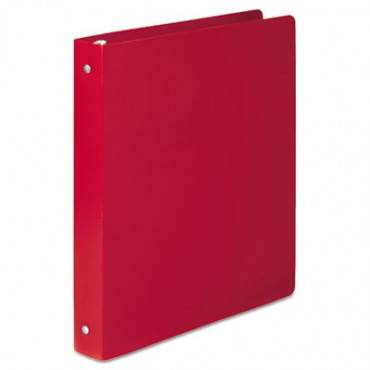 """Accohide Poly Round Ring Binder, 35-pt. Cover, 1"""" Cap, Executive Red"""