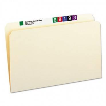 Manila File Folders, Straight Tab, Legal Size, 100/box