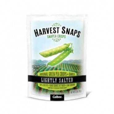 Calbea Snapea Crisp - Harvest Snaps Lightly Salted Snapea Crisps - Snack Pack - .75 Oz - Case Of 36