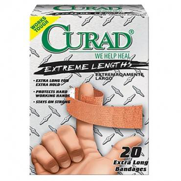 Curad Extreme Hold Fabric Adhesive Bandage, Assorted Sizes Part No. CUR14924RB Qty  Per Box