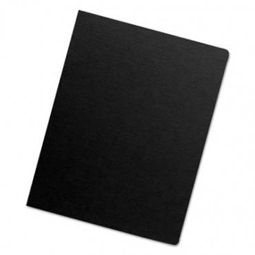 Futura Binding System Covers, Round Corners, 11 1/4 X 8 3/4, Black, 25/pack