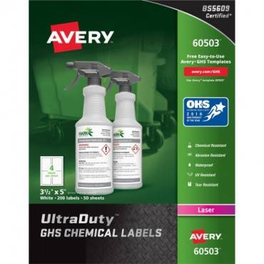 Avery® UltraDuty GHS Chemical Labels - Laser (BX/BOX)