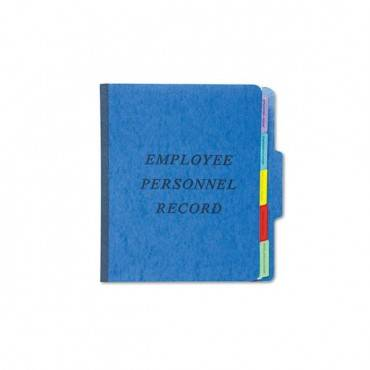 Vertical Style Personnel Folders, 1/3-cut Tabs, Center Position, Letter Size, Blue