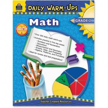 Teacher Created Resources Gr 2 Math Daily Warm-Ups Book Education Printed Book for Mathematics (EA/EACH)