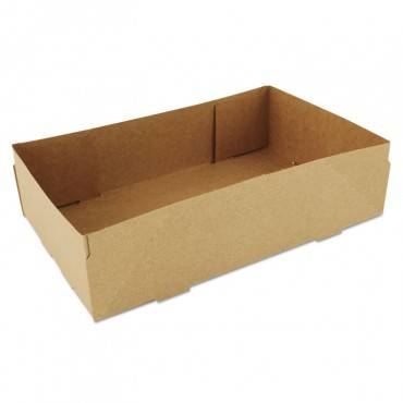 4-corner Pop-up Food And Drink Tray, 8 5/8 X 5 1/2 X 2 1/4, Brown, 500/carton