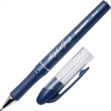 SKILCRAFT Cushion Grip Transparent Ballpoint Pen (DZ/DOZEN)