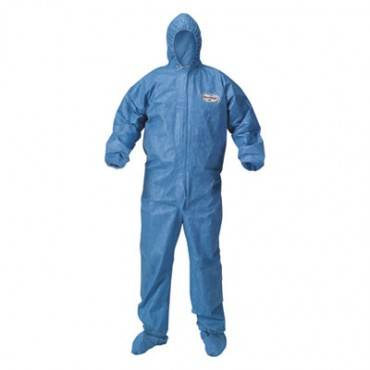 A60 Blood And Chemical Splash Protection Coveralls, Large, Blue, 24/carton