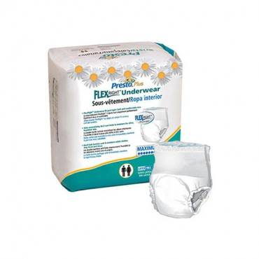 """Presto Flexright Underwear, Extended Absorbency, Large, 44""""-58"""" Part No. Aub44040 (14/package)"""