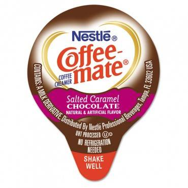 Liquid Coffee Creamer, Salted Caramel Chocolate, 0.375 Oz Mini Cups, 50/box