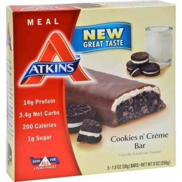 Atkins Advantage Bar Cookies n Creme - 5 Bars