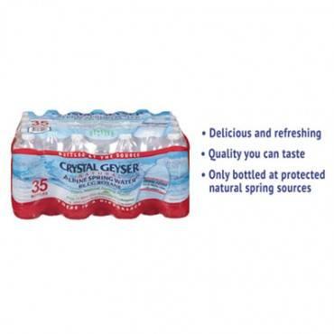 Crystal Geyser  Alpine Spring Water, 16.9 Oz Bottle, 35/Case