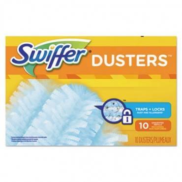 Swiffer  Refill Dusters, Dust Lock Fiber, Light Blue, Unscented, 10/Box, 4 Box/Carton