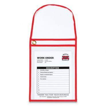 C Line  1-POCKET SHOP TICKET HOLDER W/STRAP AND RED STITCHING, 75-SHEET, 9 X 12, 15/BOX 41924 15 Box