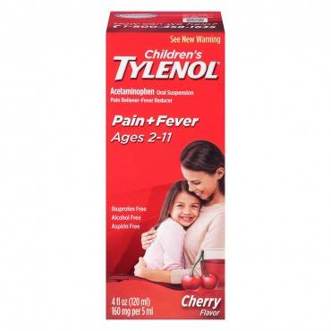 Children's Tylenol Oral Suspension Liquid, Cherry Blast, 4 fl oz (pack of 1)