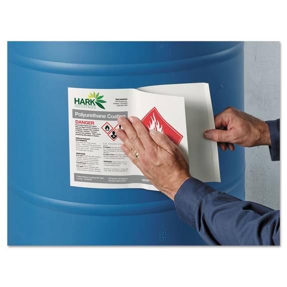 Avery Full-sheet Ghs Chemical Waterproof & Uv Resistent