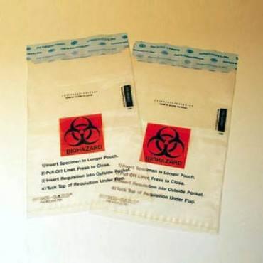 MEDICAL ACTION Speci-Gard Speciman Transport Bag with Biohazard L (100/Pack)