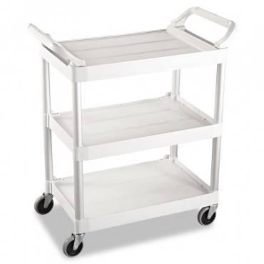 Service Cart, 200-lb Cap, Three-shelf, 18-5/8w X 33-5/8d X 37-3/4h, Off-white
