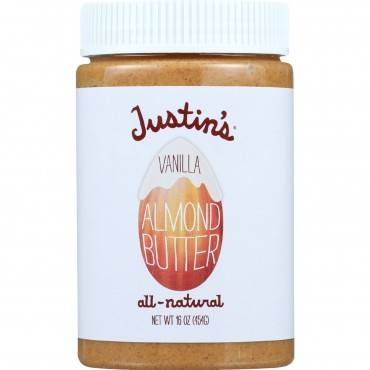 Justin's Nut Butter Almond Butter - Vanilla - Case Of 6 - 16 Oz.