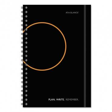 Plan. Write. Remember. Notebook With Reference Calendar, 9 X 5 5/8, Black