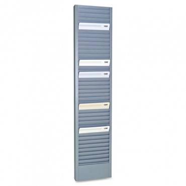 "Steelmaster  40-Pocket Steel Swipe Card/Badge Rack, 4-1/8"" X 18-11/16"""