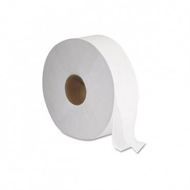 "Jrt Jumbo Bath Tissue, Septic Safe, 2-ply, White, 12"" Diameter, 1,378 Ft Length, 6/carton"