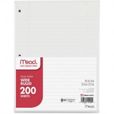 Mead 3-Hole Punched Wide-ruled Filler Paper (PK/PACKAGE)