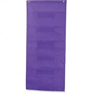 Carson-Dellosa File Folder Storage Purple 5-Pocket Chart (EA/EACH)