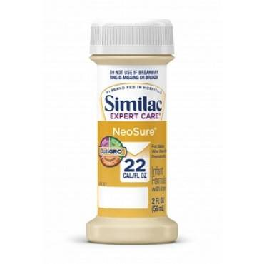 Similac expert care neosure infant formula with iron, 2 oz. part no. 56177 (48/case)