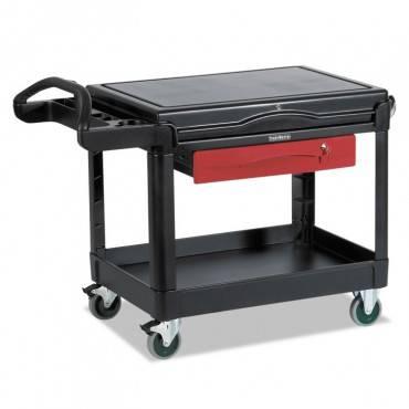 Trademaster Cart, 500-lb Cap, One-shelf, 38-5/8w X 52-1/2d X 37-7/8h, Black